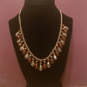 Glass Drop Beaded Necklace